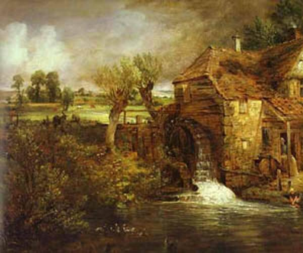 A mill at gillingham in dorset parhams mill 1826 xx yale enter for british art new haven usa